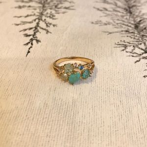 NEW Anthropologie Ring GOLD PLATED with Stones